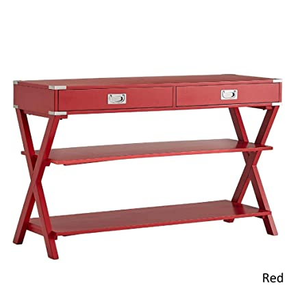 Sensational Inspire Q Kenton 2 Drawer Console Table By Bold Red Painted Home Interior And Landscaping Dextoversignezvosmurscom