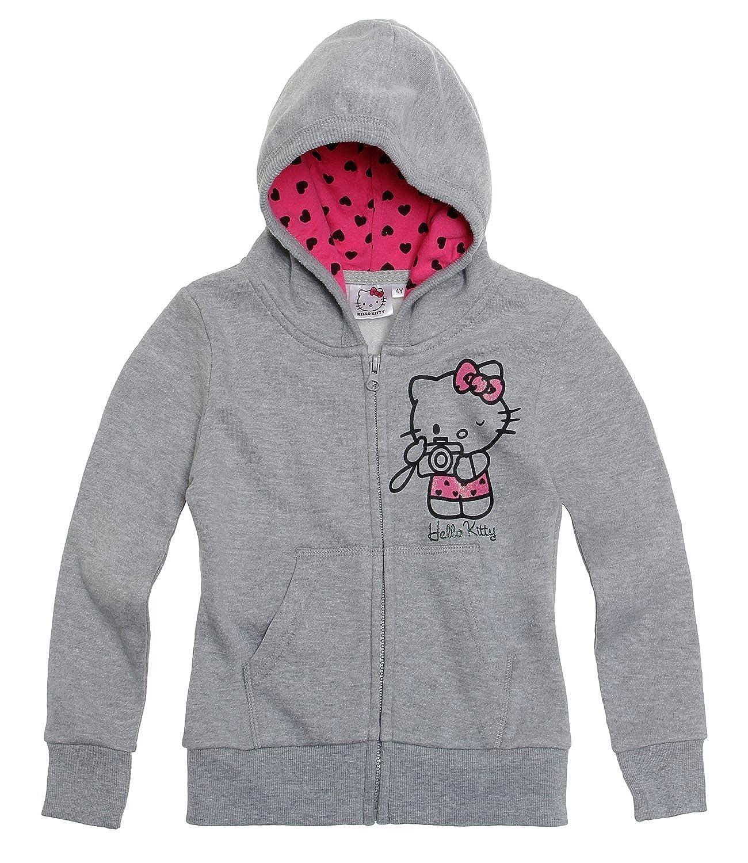 Hello Kitty Girls Sweat jacket with hood - grey