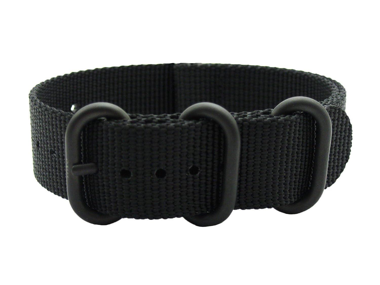 HNS Watchストラップ – Choice Of Color &横幅( 20 mm、22 mm、24 mm ) – Ballisticナイロンzulupath g10ストラップ 22mm Black-3PVD 22mm|Black-3PVD Black-3PVD 22mm B079Q8P3S1