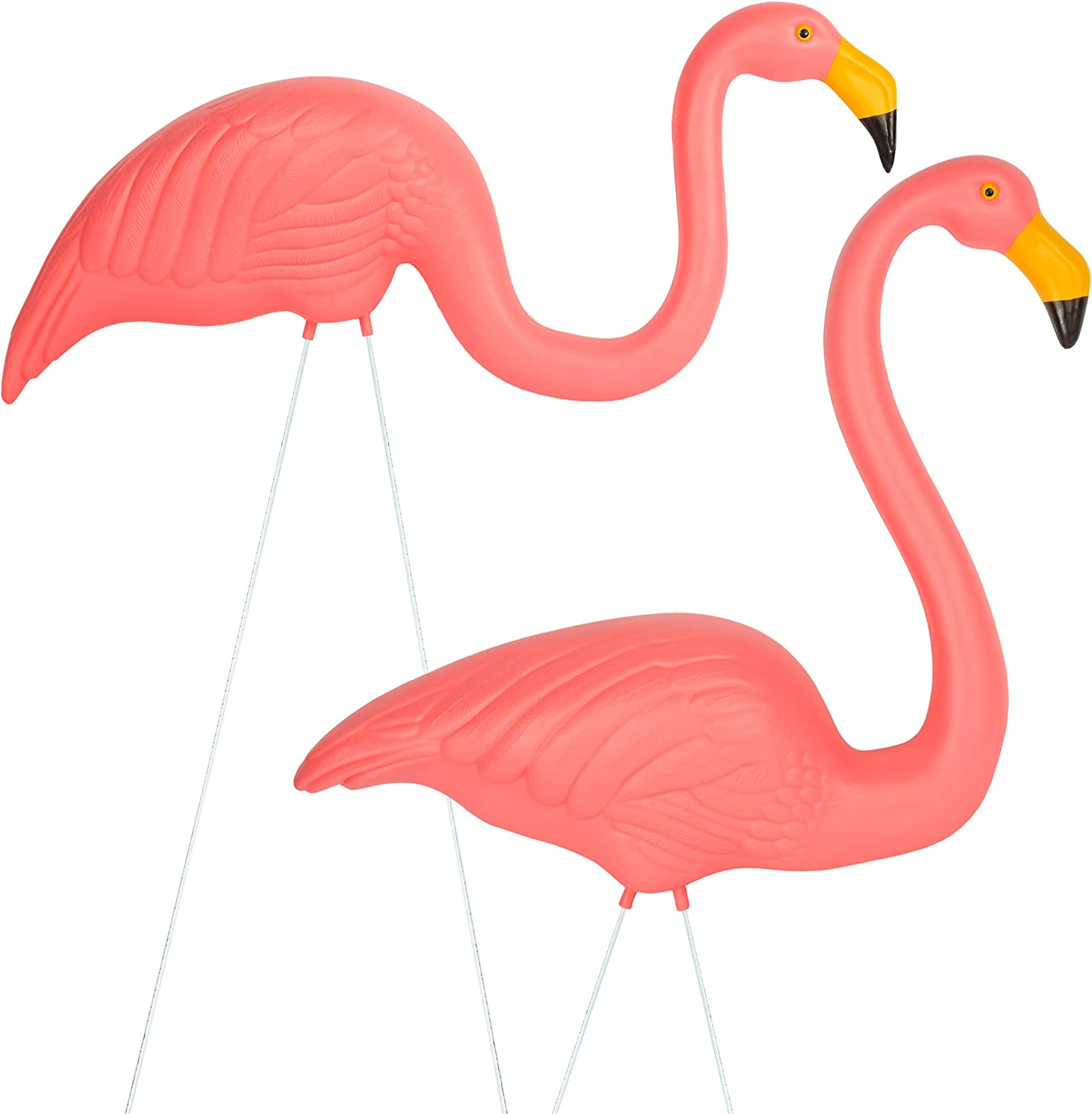 Galashield Pink Flamingo Yard Ornaments Pack of 2 Pink Flamingos Lawn Decor for Garden
