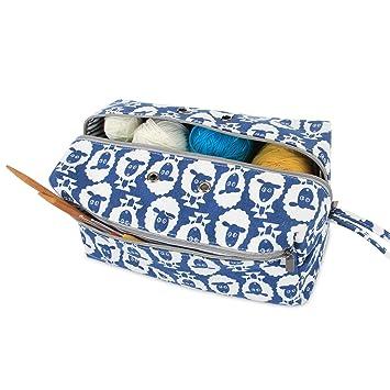 Luxja Bolsa de Almacenamiento de Lana, Bolsa de Crochet Bolsa de Tejer, Bolso para