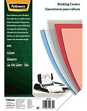 Fellowes Cristal - Portadas de encuadernación (PVC, formato A4, paquete de 100), transparente