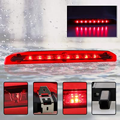 For 2013-2020 Ford Escape Red LED 3rd Third Brake Light Rear Liftgate Trunk Lamp (Chrome Housing Red Lens): Automotive