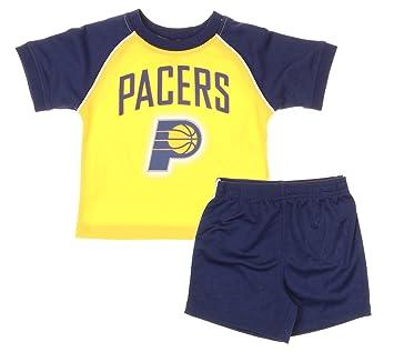 Indiana Pacers NBA de bebé y niño camiseta y pantalones cortos Set - Color Azul Marino/Dorado, Azul marino/dorado: Amazon.es: Deportes y aire libre