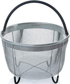 Hatrigo Steamer Basket for Instant Pot Accessories 6 qt [3qt 8qt Avail] fits InstaPot