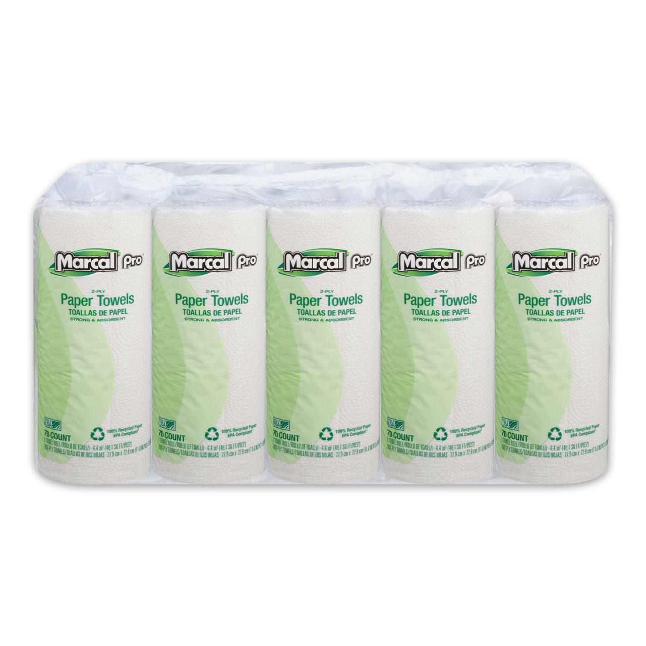 Amazon.com: Marcal Pro Paper Towels, 2-Ply, 70 Sheets Per Roll, 15 Individually Wrapped Rolls per Bundle - 100% Recycled - Strong and Absorbent White Paper ...