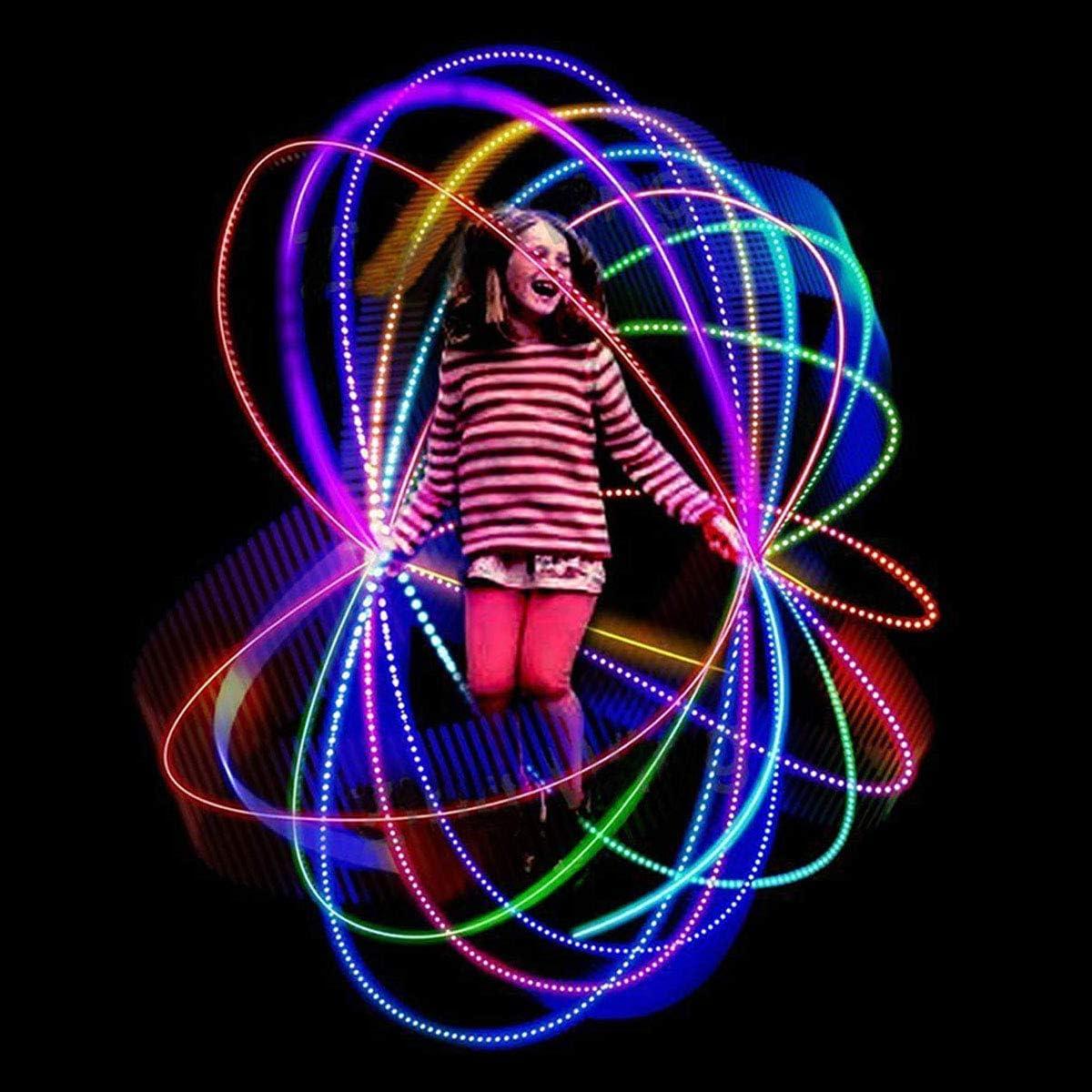 DEL Corde à sauter Fitness avec plaisir violet brillant et néons DEL Corde