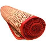 QUINERGYS Straw and Cotton Mat, 74x24x0.25-inch (Multicolour, O Yoga Mat-Type-057)