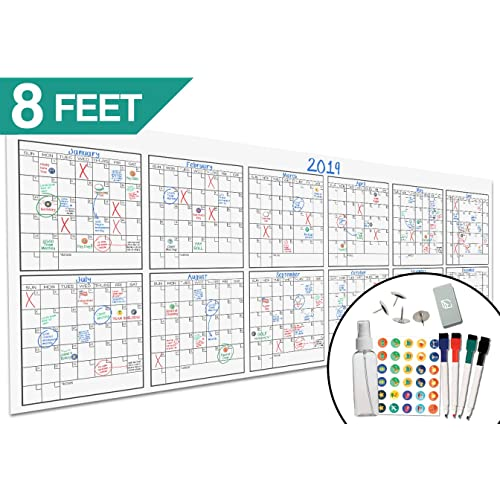 large wall calendar with 12 months amazon com