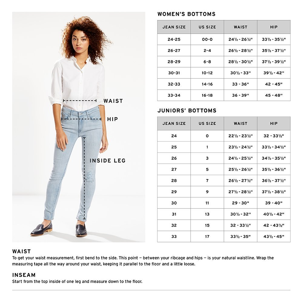 What size waist corresponds with size 6 in pants for women?