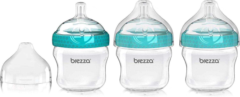 3 Pack Clear//White Baby Brezza BZB00167 Polypropylene Bottle