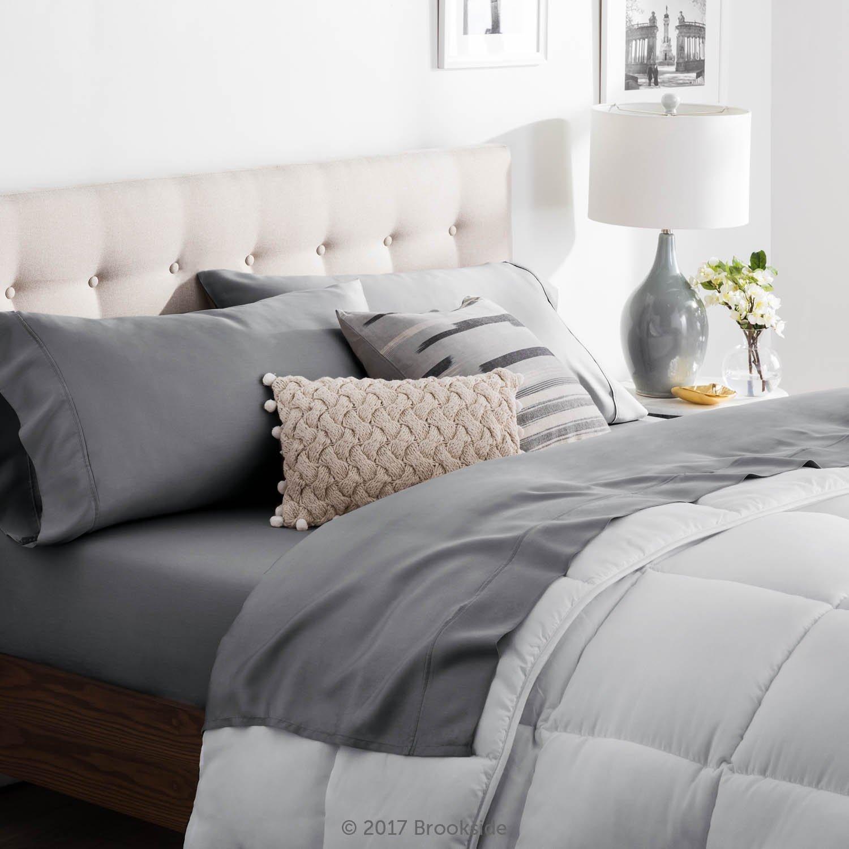 Brookside TENCEL Sheet Set - Luxurious Feel - Great for Sensitive Skin - Sateen Weave - Eco Friendly - Queen - Slate