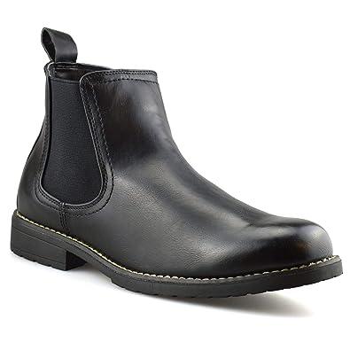 1d49f38e32c Mens New Chelsea Dealer Formal Casual Work Ankle Cowboy Biker Boots Shoes  Size Clothes, Shoes & Accessories