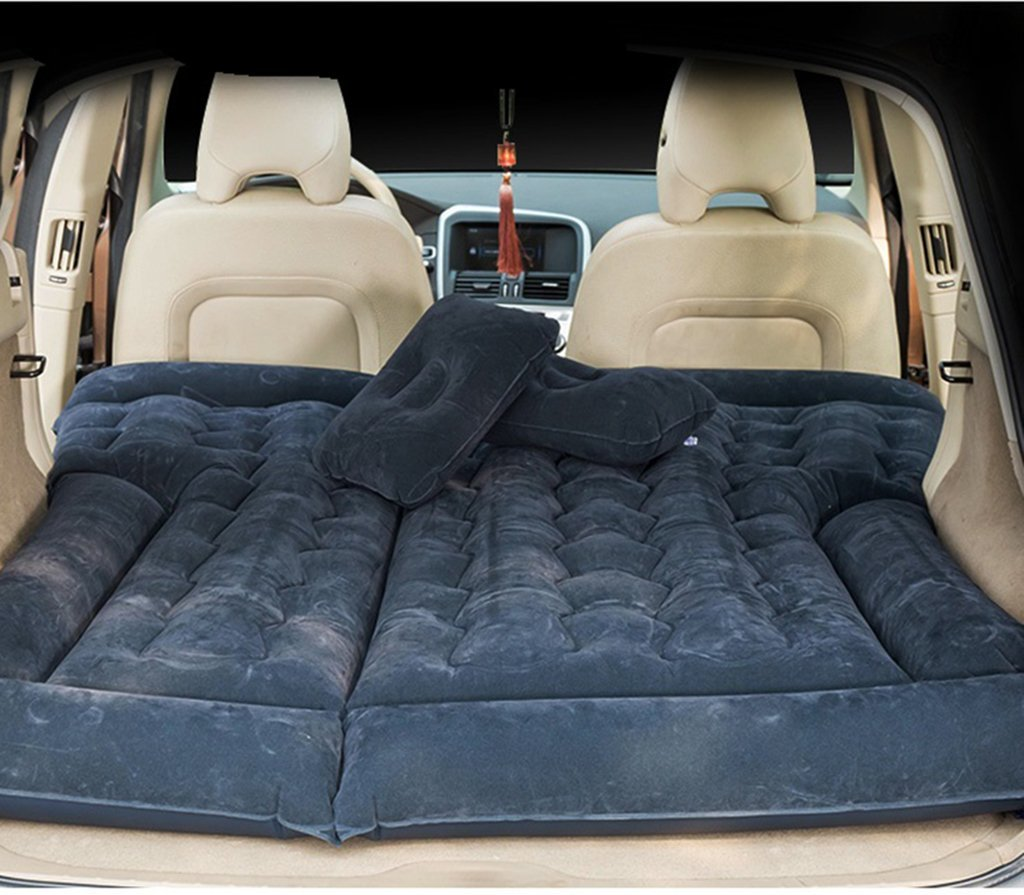 SUVエアベッド、GZD多機能インフレータブルカーマットレスバックシートキャンプスリープクッション、自宅、車、アウトドア用に調節可能な8つの独立したエアキャビンキャンプユニバーサル,Black   B07FZLGC88