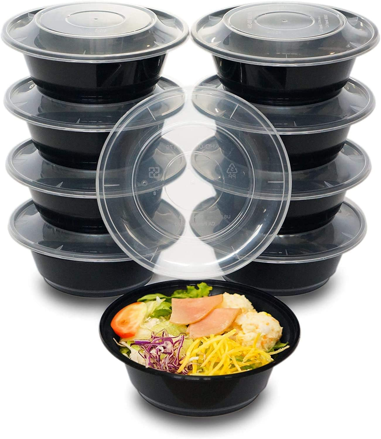 50 Pack Meal Prep Container 24oz with Lids, Reusable Food Delivery Storage Containers, Bento Lunch Box | BPA Free | Stackable | Microwave/Dishwasher/Freezer Safe 71BFCQ63hyL
