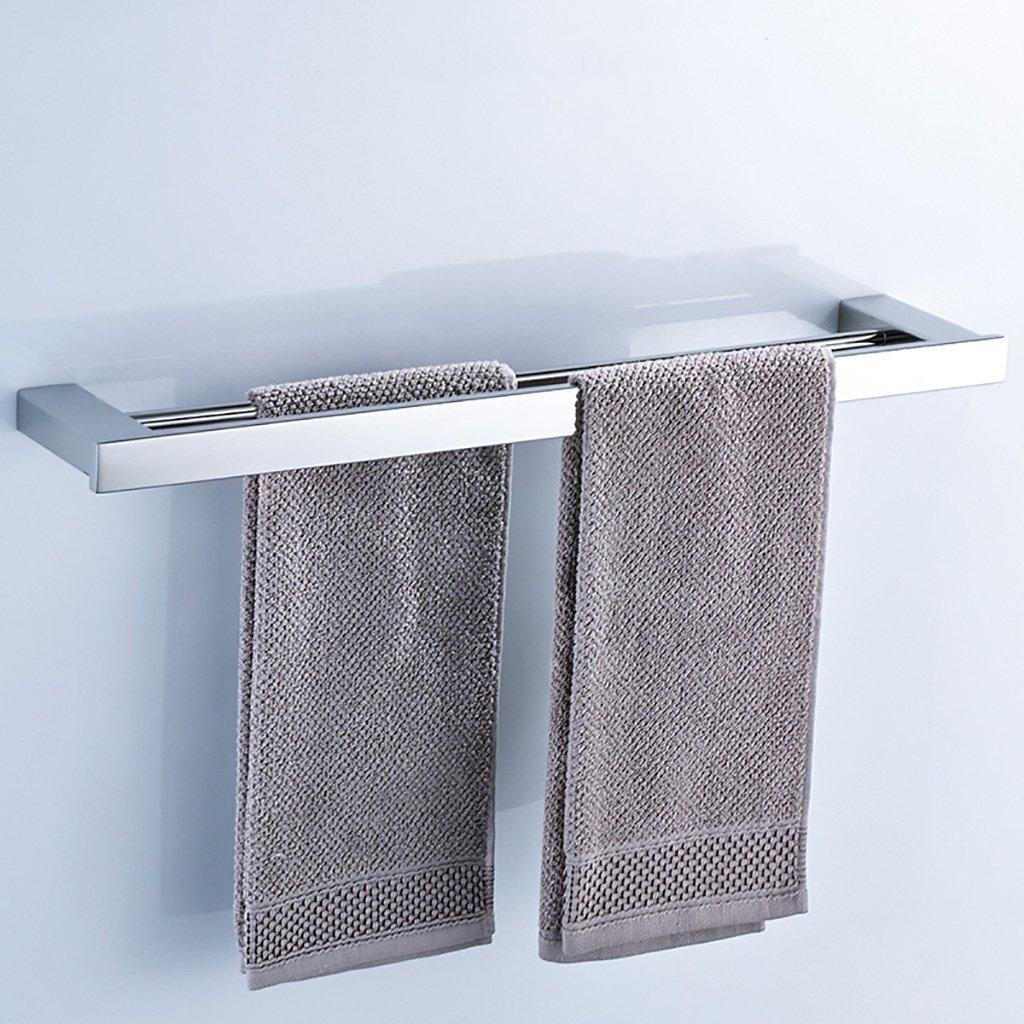 タオルラックウォールマウントウォールマウントステンレスタオルロッドダブルポールタオルラックのドアの浴室のキッチン (サイズ さいず : 50 cm 50 cm) B07DC3XBQK 50 cm 50 cm 50 cm 50 cm