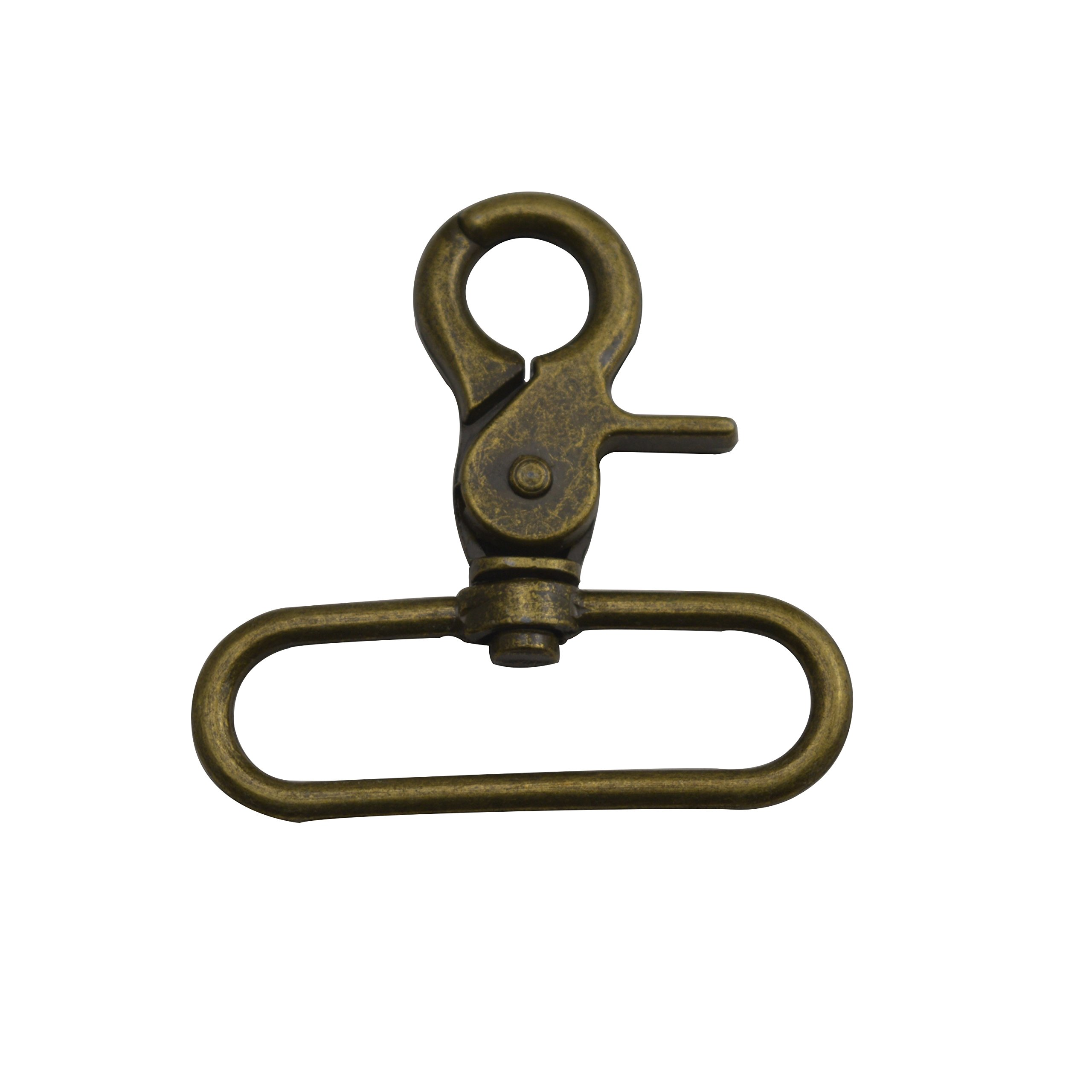 Wuuycoky Bronze 2'' Inner Diameter Oval Ring Pliers Buckle Lobster Clasps Swivel Snap Hooks Pack of 10