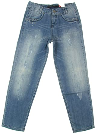 64662f67ab6 Only  quot Lisa Boyfriend Stretch Femme Jeans Carotte Used-Look Jean (Bleu  Clair