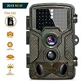 HD Fotocamera da caccia 16MP 1080P Infrarossi Scouting Camera con Infrarossi Visione Notturna 82ft 125° Impermeabile IP56 Schermo LCD 2.4 46pcs IR LED con scheda microSD da 32GB