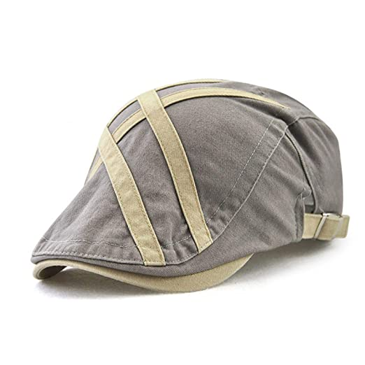Mastojonster Casual Visors Caps Men Beret Hat for Men Flat Cap Cotton Gorras Patch Striped Fashion Hat at Amazon Mens Clothing store: