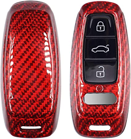 Luxury Real Carbon Fiber SNAP ON CASE for Cadillac CTS ATS V Smart Key FOB