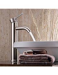 "12"" Modern Bathroom Lavatory Vessel Sink Faucet Chrome Single/One Handle"