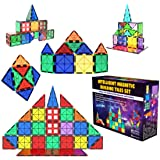 Desire Deluxe Magnetic Tiles Building Blocks Construction Toys for Boys & Girls 47pc – STEM Learning Educational Toy for Kids