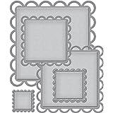 Spellbinders NEST-DE-295 Nestabilities - Juego de plantillas para perforado de papel, diseño rectangular, color verde
