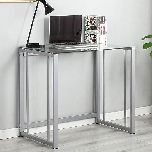 soges Escritorio de la computadora 90cm Escritorio pequeño PC Desk ...