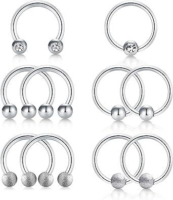 Avyring 16 Gauge Helix Cartilage Earrings Stainless Steel