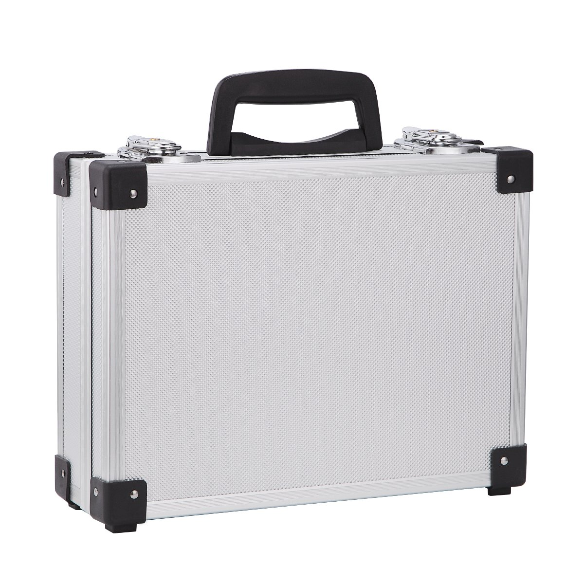 Professional Aluminum Hard Hand Gun Cases Office File Briefcase Outdoor Travel Flight Cases Home Tool Boxes with Quick Locks by ALUBOX (Image #3)