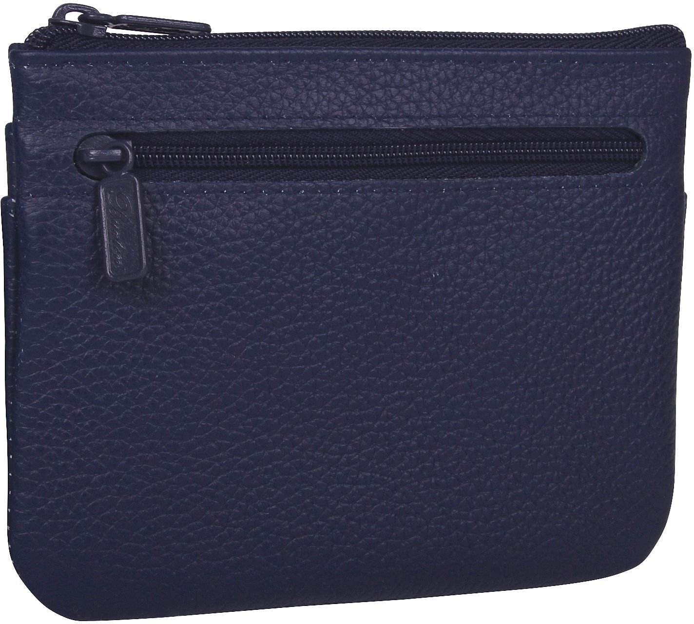 Buxton Womens Leather ID Coin Card Case Wallet, Navy,One Size