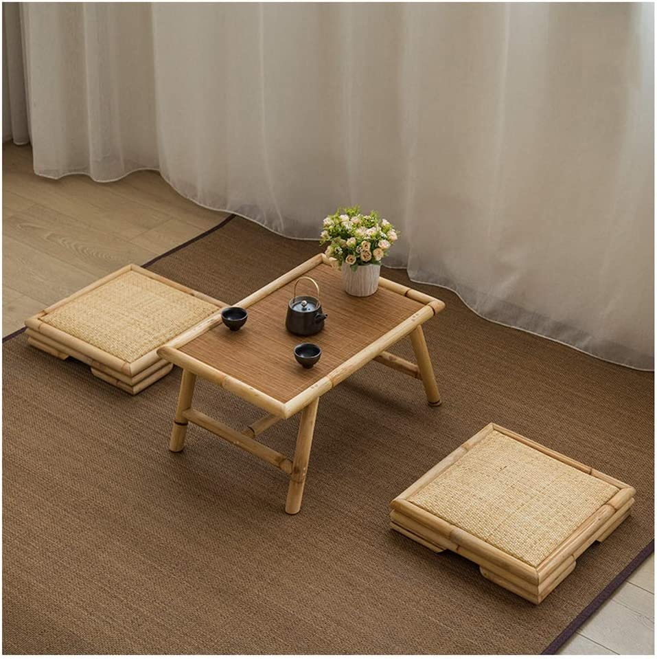 Size 60cm Home Lazy Table Tatami Tea Table Bamboo Rattan Table Japanese Style Small Coffee Table Small Study Desk Table Single Dining Table Notebook Table Office Products Office School Supplies