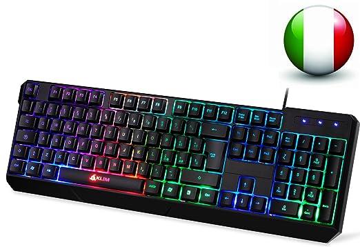 200 opinioni per KLIM Chroma Tastiera ITALIANA per Gaming USB- Alte Performance – Colori da