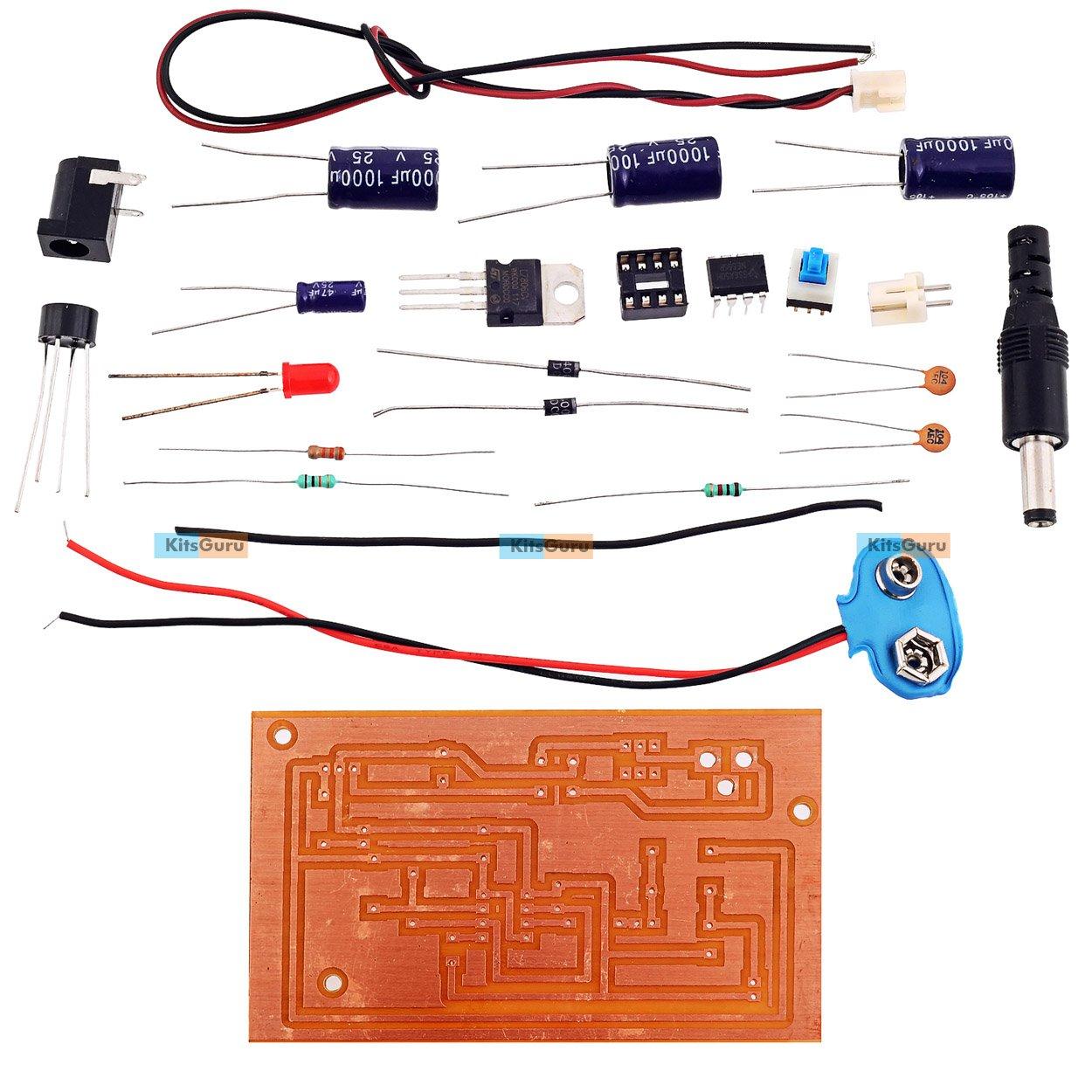 Kitsguru Voltage Doubler Mini Projects Diy Kit Multicolour Amazon With Ic 555
