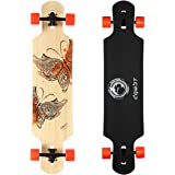 DGWBT Bamboo Maple 41 inch Drop Through Longboard Skateboard Complete