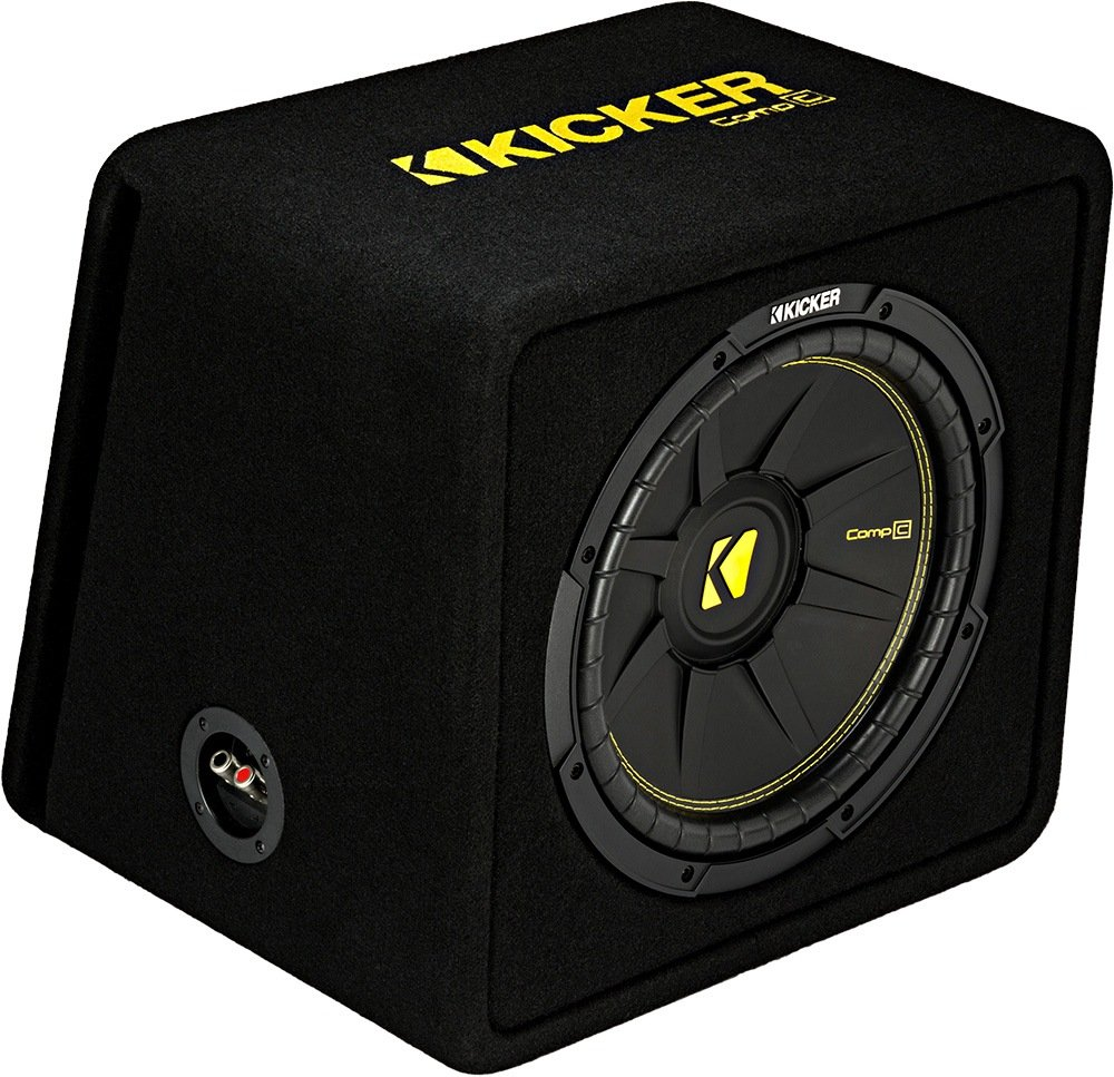 Kicker 12-Inch 600 Watt 4 Ohm CompC Vented Loaded Subwoofer Enclosure, 44VCWC124