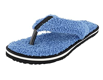 95f57e2f1cf8bb Travelkhushi Women s Grass Terry Memory Foam Flip-Flops  Buy Online ...