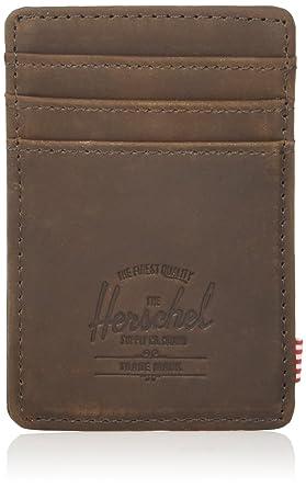 b65c266c472 Herschel Supply Co. Unisex-Adult s Raven Leather RFID Wallet