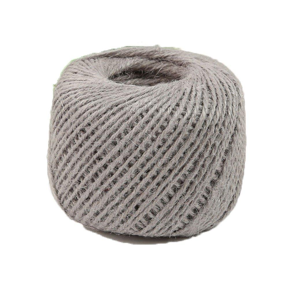 Diyjoys Grey 50 yards Natural Jute twine 2.0mm string for art craft gift