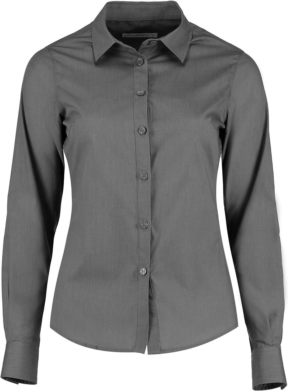 KUSTOM KIT - Camisa de popelín y Manga Larga para Mujer