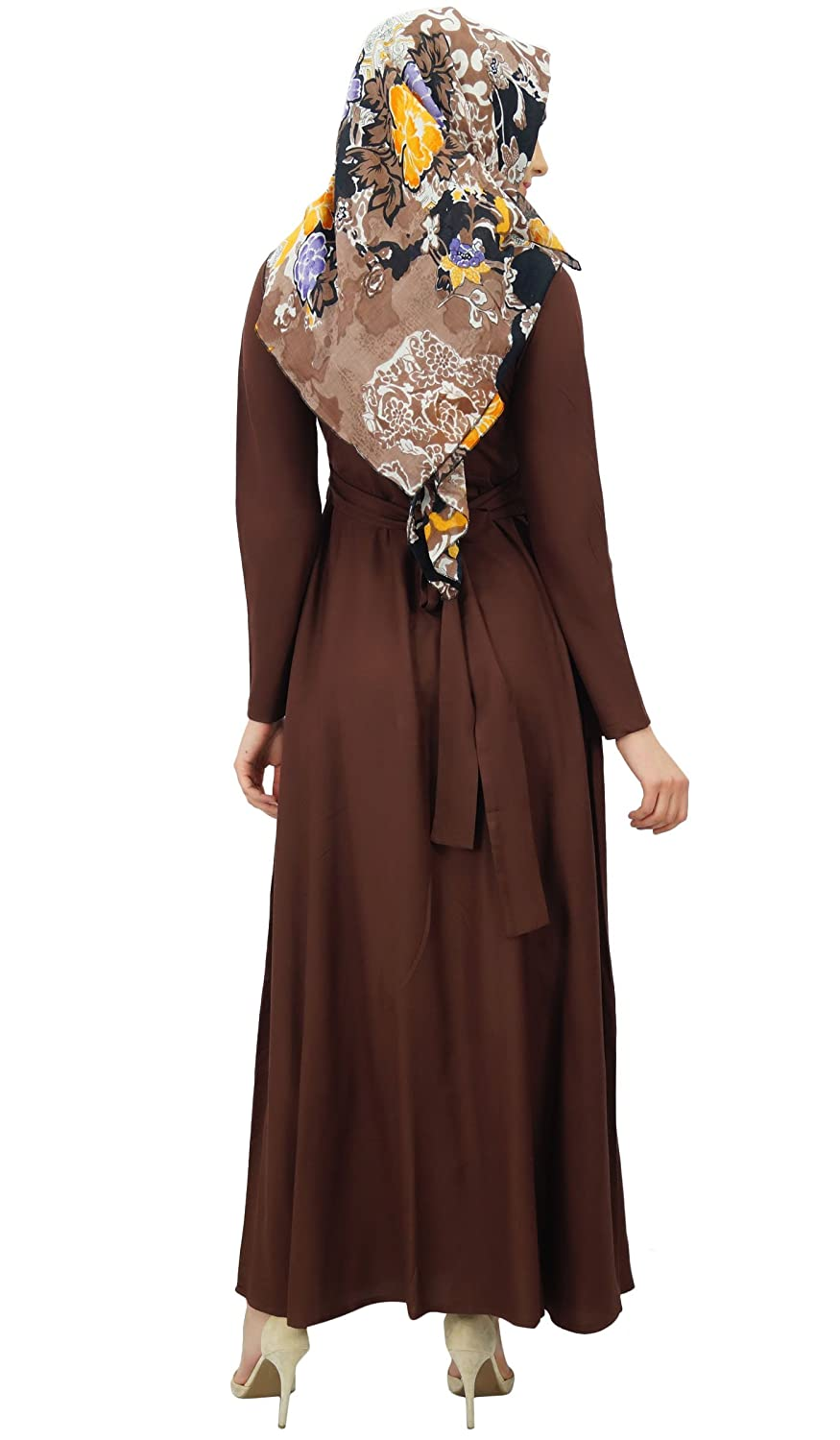 254e1cb3939 Bimba Women s Muslim Abaya Pleated Jilbab Islamic Long Dress With Printed  Hijab Scarf  Amazon.ca  Clothing   Accessories