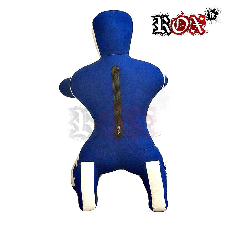 /Les Mains Avant Bleu//Blanc Grappling Dummy Rox Coupe MMA r/éaliste Judo Sac de Frappe Grappling Dummy/ /Position Assise/