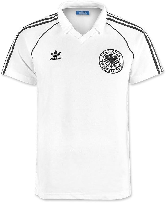 adidas T-Shirt Originals Alemania Retro Blanco/Negro Talla:XS: Amazon.es: Deportes y aire libre