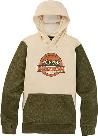Burton Sudadera unisex infantil Oak, Niños, gris y negro, extra-large