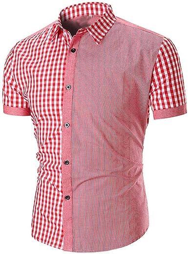 Camisa De Polo De Hombre Camisa De Polo Mode De De Manga Marca Corta Estampada En Rejilla De Verano Top Camisa De Polo De Solapa Abultada De Ocio Básico: Amazon.es: Ropa y
