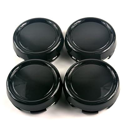 4pcs 79mm(3.11in)/73mm(2.87in) Wheel Hub Center Caps Black Base for C200 W220-S320 S350 S300 S600 ML350 GLC G ML RZ DF Wheels: Automotive
