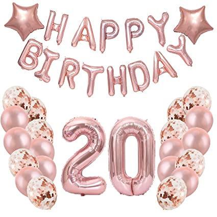 Amazon Birthday Party Decorations Supplies20th