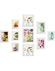 MVPOWER Set de Marcos de Fotos 4pcs x 10*15cm + 3pcs x 13*18cm + 2pcs x 20*20cm + 1pcs x 20*25cm Color Blanco