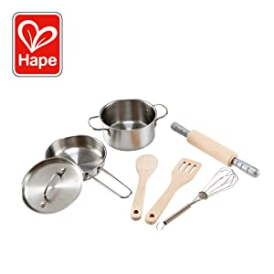 Hape Chef's Choice Cooking Kit Kid's Wooden Play Kitchen and Food Accessories Set
